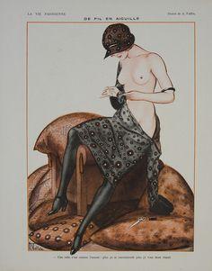 La Vie Parisienne - De Fil en Aiguille 1921 Original Magazine Print – Rue Marcellin Original Vintage French Posters & Prints @Rue Mapp Mapp Marcellin ruemarcellin.com
