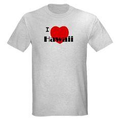 6b3dacdae674 I Love Hawaii Ash Grey Light T-Shirt. CafePress