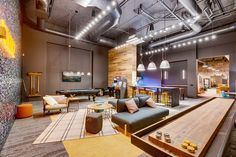 Leeward on Dexter now about leased Church Interior Design, Restaurant Interior Design, Youth Room Church, Youth Group Rooms, Clubhouse Design, Modern Office Design, Game Room Design, Office Interiors, Interior Office