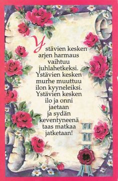 Finnish Words, Le Pilates, Happy Friendship Day, Me Quotes, Embroidery, Thoughts, Humor, Postcards, Happy Friends Day
