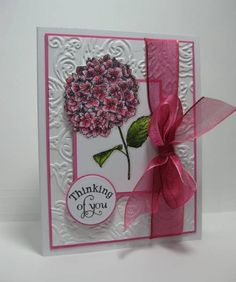 Thinking of You Hydrangea by CherylQuilts - Cards and Paper Crafts at Splitcoaststampers