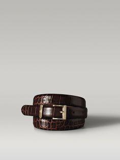 Massimo Dutti $45.50 leather DRESSY BROWN BELT