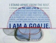 Goalie Development
