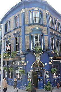 lovely blue building in London