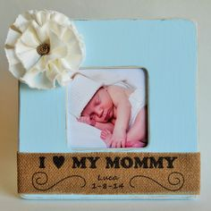 baby shower gift personalized baby picture frame i heart my mommy personalized