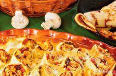 Rakott húsos-gombás palacsinta - Vidék Íze Tacos, Mexican, Ethnic Recipes, Food, Meal, Essen, Hoods, Meals, Mexicans