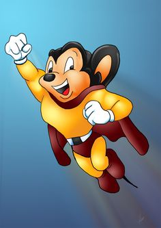 This is epic Mighty Mouse. Funny Thing, I dont like Superman and I dont like Mickey mouse. Looney Tunes Characters, Classic Cartoon Characters, Looney Tunes Cartoons, Favorite Cartoon Character, Classic Cartoons, Cartoon Kunst, Cartoon Tv, Cartoon Drawings, Looney Tunes Personajes