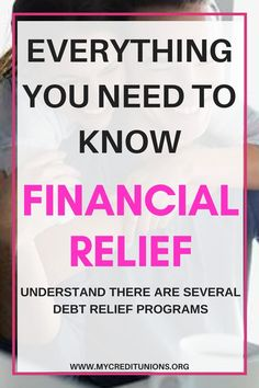 There are five types of debt relief programs. They are a Debt Consolidation Loan, Balance Transfer, Debt Management Plan, Debt Negotiation (or debt settlement) and Bankruptcy. It's important to know how each of these programs work so that you can choose the one that best fits your circumstances.