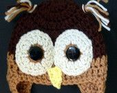 Adorable Owl Crochet Hat