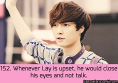 Exo Facts. Evidently noticed in one of the Go Fighting episodes. It was painful to see him so upset.