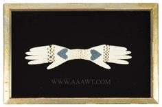 A Heart and Hand Love Token, Layered, Cut, and Woven Paper, and Hair, America, Anonymous 19th Century