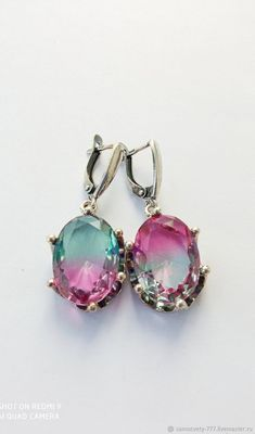 Materials: cubic zirconia, silver Size: Stone size 20 by 15 mm ##handmade Cubic Zirconia Earrings, Silver Earrings, Stone, Handmade, Free, Products, Rock, Hand Made, Stones