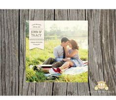 Items similar to Photo Save the Date Cards - Announcements - Wedding Engagement - on Etsy Save The Date Photos, Save The Date Postcards, Save The Date Cards, Engagement Pictures, Wedding Pictures, Wedding Engagement, When I Get Married, I Got Married, Announcement Cards