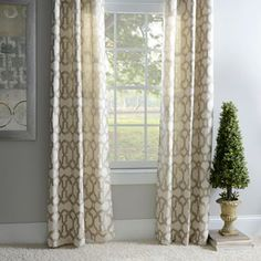 Metallic Avalon Curtain Panel Set, 84 in. | Kirklands