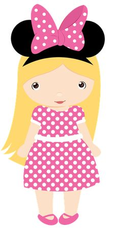 MINNIE MOUSE LITTLE GIRL CLIP ART