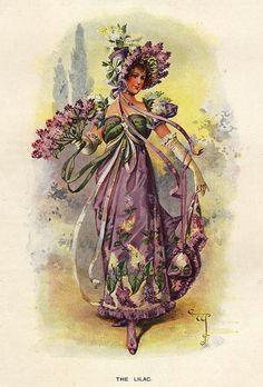 Lady LILAC Vintage Flower/Garden by DandDDigitalDelights on Etsy - Mana vietne Vintage Diy, Images Vintage, Vintage Pictures, Vintage Postcards, Vintage Ladies, Framed Pictures, Images Victoriennes, Retro, Foto Transfer