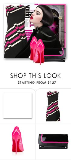 """""""JLD 13:Pink and Black"""" by samketina ❤ liked on Polyvore featuring St. John, Lanvin, Christian Louboutin and Rupert Sanderson"""