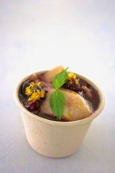 Cherry dessert with amasake pudding