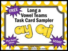 Long Vowels:  FREE Sampler - You will receive 6 phonics task cards focusing on long ai and ay vowel teams.   A student response form and answer key are provided.These task cards are a sample from the following bundle:Long ay and ai Vowel Teams BUNDLE of 60 Task CardsTask cards are a great alternative to worksheets.