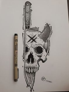 Cool Cartoon Drawings, Alien Drawings, Dark Art Drawings, Cute Drawings, Tattoo Drawings, Body Art Tattoos, Monster Sketch, Occult Tattoo, Deep Art