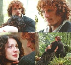 Claire tells Jamie everything after he rescues her from the Witch Trial.