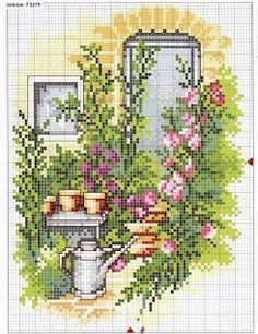 Garden corner cross stitch