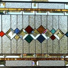 Stained glass window traditional / Panel by Margo Crane