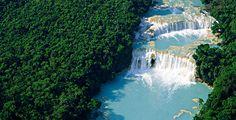 Destinos Turisticos en México   Cascadas de Agua Azul  http://www.wdestinos.com/destinos-turisticos/1745/cascadas-de-agua-azul