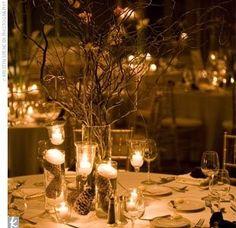 New Wedding Winter Centerpieces Curly Willow Ideas Branch Centerpieces, Winter Wedding Centerpieces, Wedding Table, Fall Wedding, Dream Wedding, Wedding Ideas, Centerpiece Ideas, Wedding Reception, Trendy Wedding