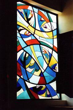 Stained Glass Window by NUZ at Betsy Frank Gallery #stainedglasswindow #artnuz