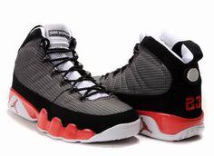 Men\u0026#39;s Air Jordan 9 Punch Shoes - Grey Black Red - Click Image to Close