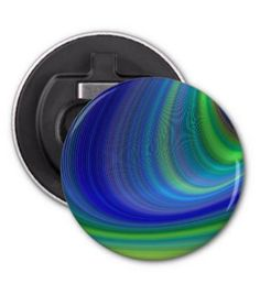 Cyclone Bottle Opener $3.85 *** Blue and green abstract stormy sky *** cyclone - storm - vortex - whirlwind - sky - blue - green - abstract sky - stormy sky - curve - arc - dream - hurricane - button bottle opener