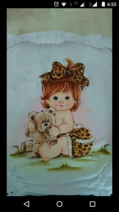 Bebe Baby Cartoon, Cartoon Pics, Tole Painting, Fabric Painting, Brother Innovis, Cute Baby Dolls, Princess Coloring, Baby Drawing, Cute Clipart