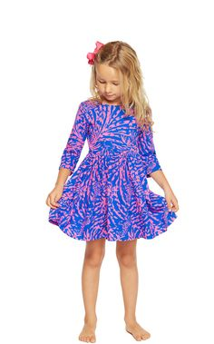 Girls Mini Evelyn Fit And Flare Dress