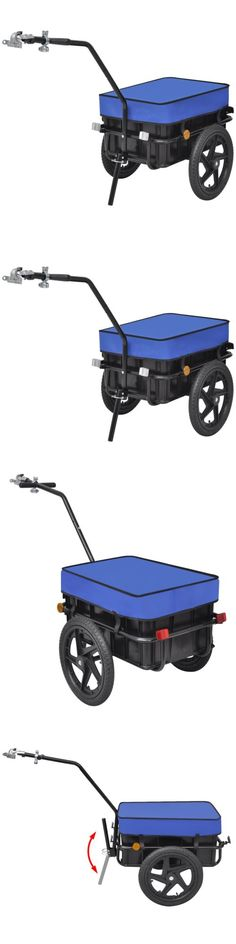 Other Cycling Clothing 177857: Vidaxl Bicycle Folding Cargo Trailer Bike Cart Luggage Transport Hand Wagon Blue -> BUY IT NOW ONLY: $98.99 on eBay!