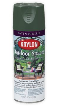 """To paint my wicker patio furniture. I think I'll use """"Ocean."""" Spray with Krylon Indoor/Outdoor Spray Primer first. Painting Wicker Furniture, Wicker Patio Furniture, Wicker Chairs, Furniture Projects, Furniture Makeover, Painted Furniture, Diy Furniture, Wicker Baskets, Aerosol Spray Paint"""