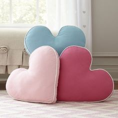 Simple and sweet, this heart pillow is ideal for snuggling with and features decorative trim around the edges. Accent Pillows, Floor Pillows, Owl Pillows, Dog Cushions, Burlap Pillows, Sewing Pillows, Bed Rest, Heart Pillow, Living Room