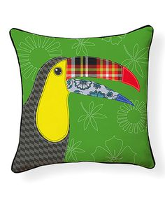 Another great find on #zulily! Toucan Pillow #zulilyfinds