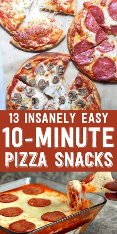 13 Easy Pizza Snacks You Can Make In 10 Minutes Or Less - Too much to pin, because I would pin all of the them.