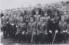 Officers of the Northern District Army under general Kiichiro Higuchi in Shumshu island (1945)