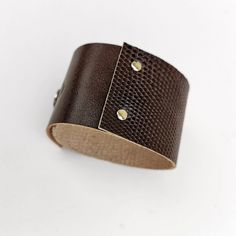 Reptile pattern, genuine leather, mahogany color Mahogany Color, Reptiles, Cuff Bracelets, Metal, Pattern, Leather, Jewelry, Jewlery, Jewerly