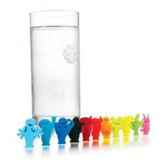 Jogo de marcadores de taças 12 peças Vacu Vin-festa color