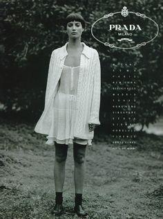 Christy Turlington by Peter Lindbergh - Prada S/S 1994
