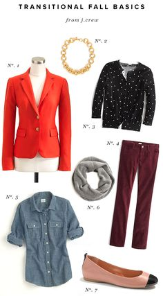 Transitional Fall Basics from J. Crew Factory