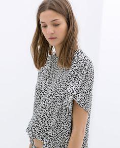 Image 5 de TOP IMPRIMÉ OURLET ASYMÉTRIQUE de Zara pattern!!!