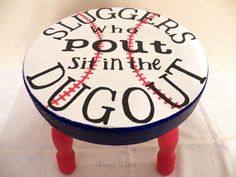 Hey, I found this really awesome Etsy listing at https://www.etsy.com/listing/180465187/sluggers-who-pout-time-out-stool