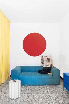 Colorful Apartment, Hidden Rooms, Apartment Renovation, Terrazzo Flooring, Contemporary Apartment, Red Walls, Modern Interior Design, Interior Ideas, Interior Inspiration