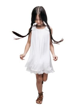 Lili Gaufrette spring summer 2014 white chiffon dress #white #liligaufrette #SS14 #spring #summer #springsummer2014 #childrens #kids #childrenswear #kidswear #kidsfashion #girls