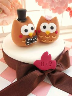 bride and groom owl