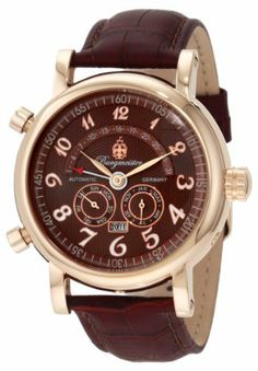Burgmeister Men's BM105-395 Nevada Automatic Watch Burgmeister. $239.00. Water-resistant to 165 feet (50 M). Mineral crystal. Analog display. Automatic. Case diameter: 43 mm. Save 78% Off!